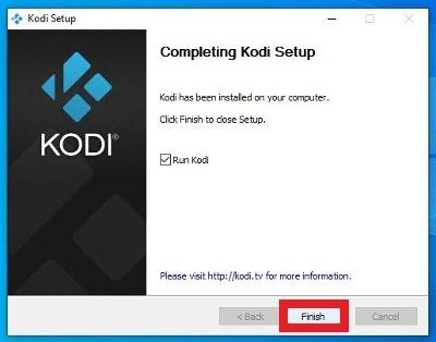 Kodi installé et en attente d'exécution