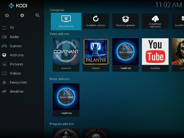 Kodi's interface