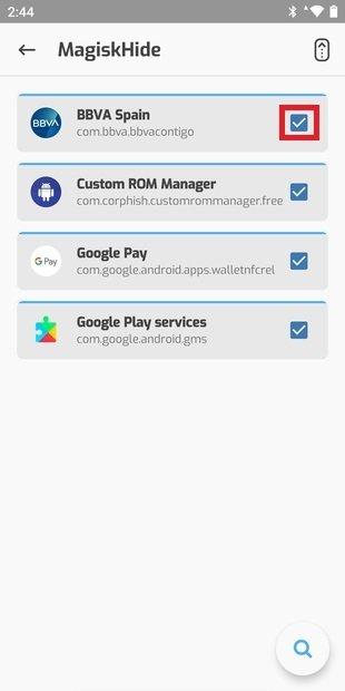 Lista de apps para ocultar root