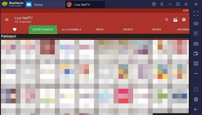Live NetTV sous Windows