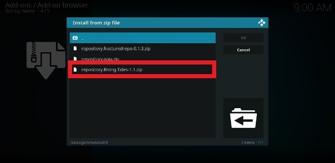 Locate the ZIP file with the file explorer