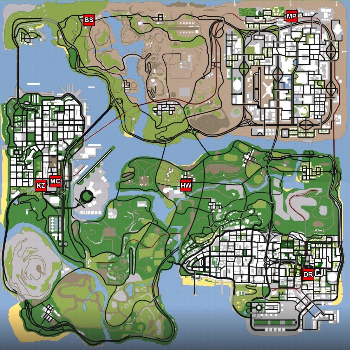 Locations of girlfriends in GTA San Andreas