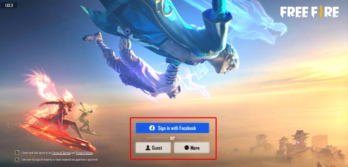 Log in to the game