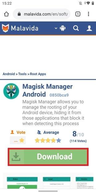 Magisk Manager en Malavida