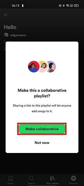 Hacer colaborativa