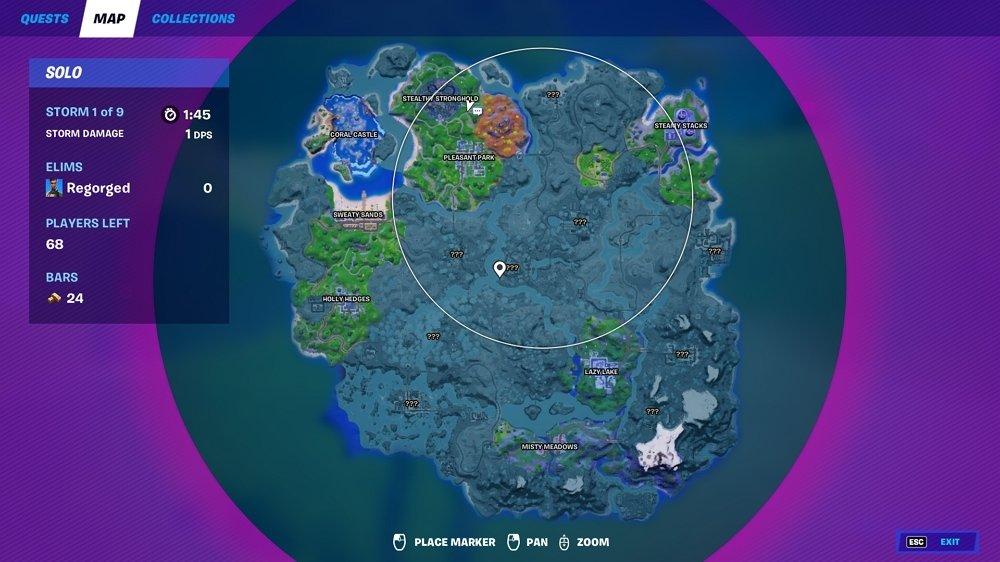 Mapa de zonas seguras