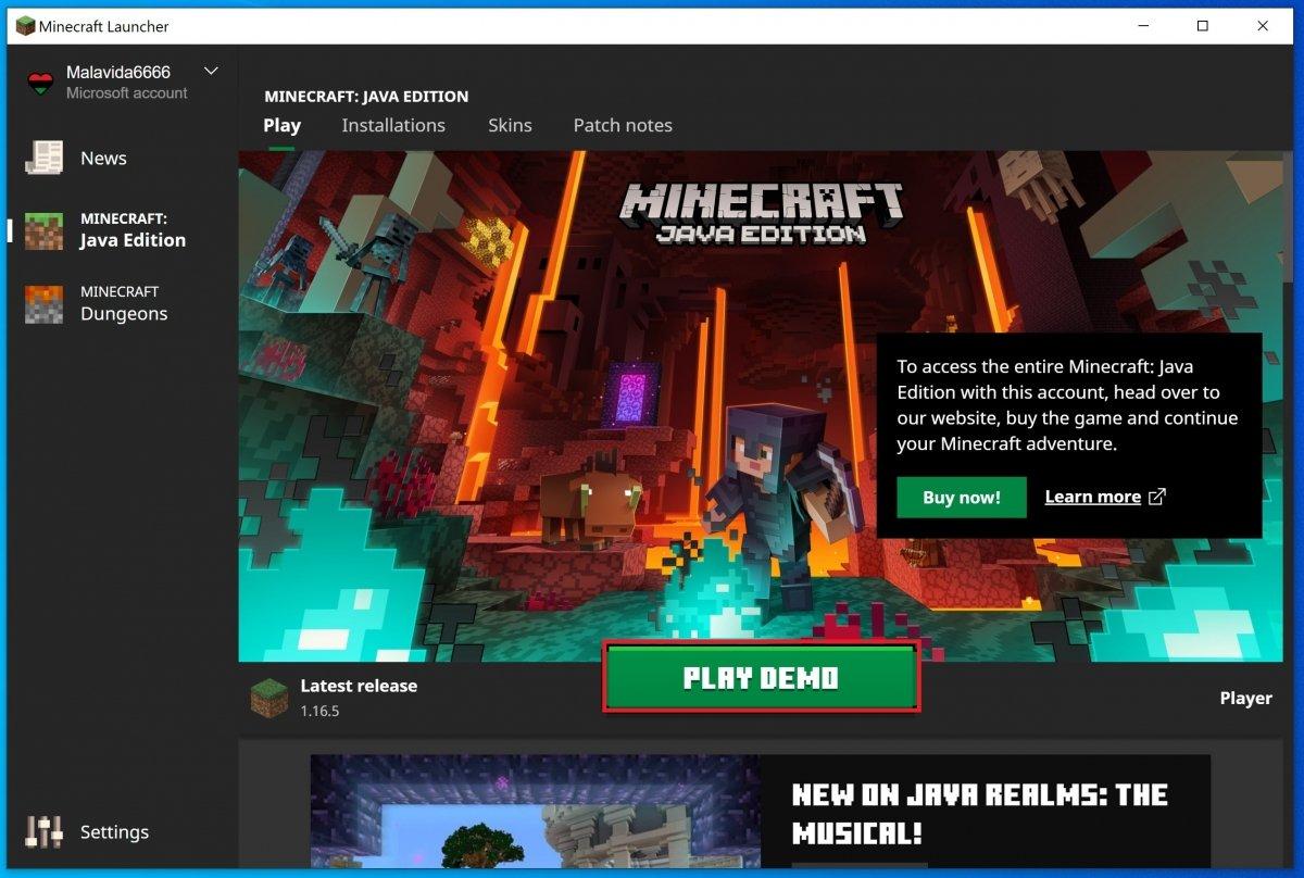 Cliente de Minecraft