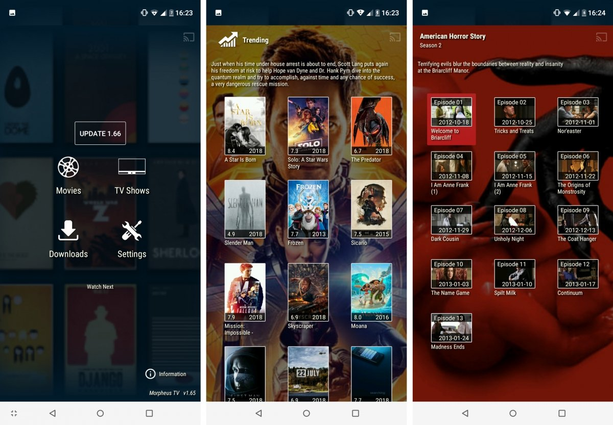 Morpheus TV cuenta con cine y series de TV