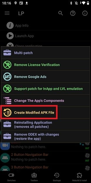Modifications sans root