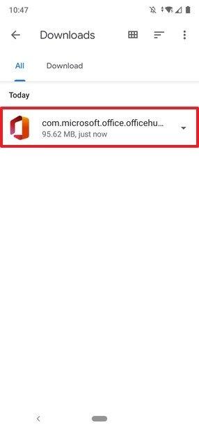 APK de Office en Files