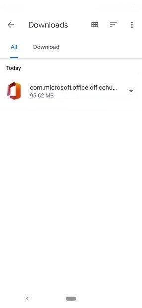 APK do Office em Files