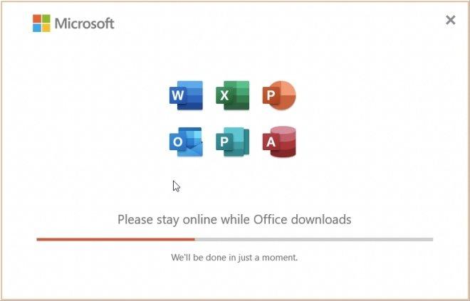 Office download under way