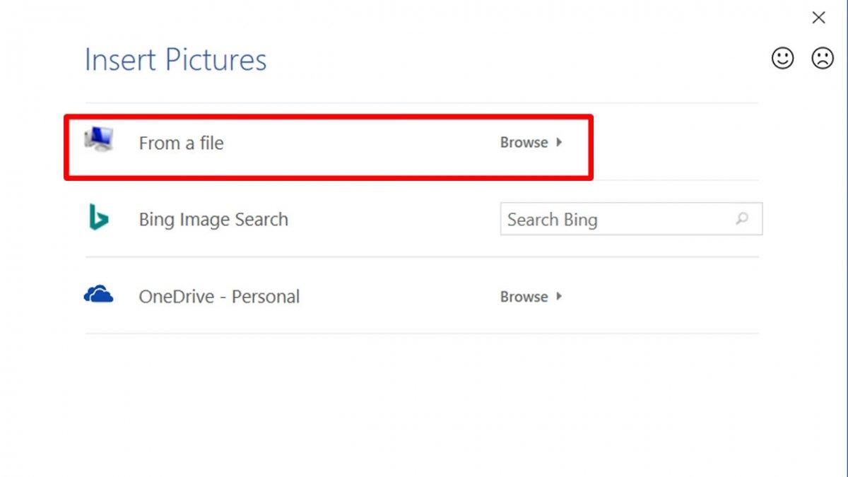 In der Option From a File, klicke auf Browser