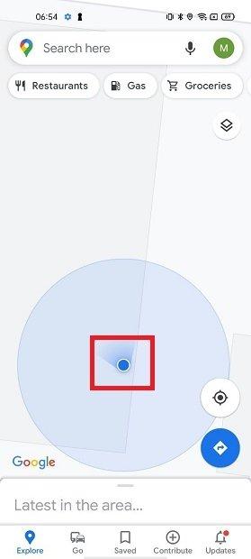 Abrir opciones de ubicación
