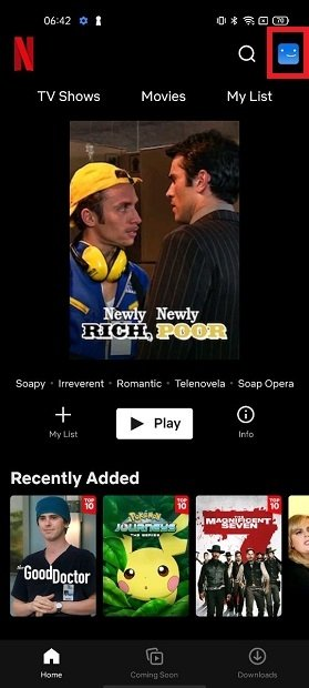Open Netflix's settings