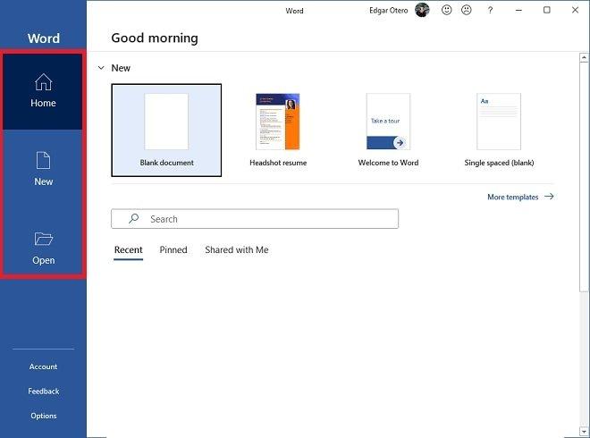 Abrir o crear un nuevo documento
