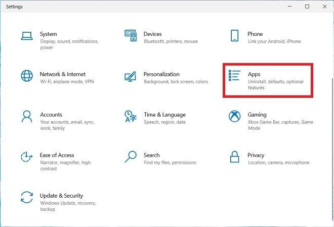 Open programs' settings