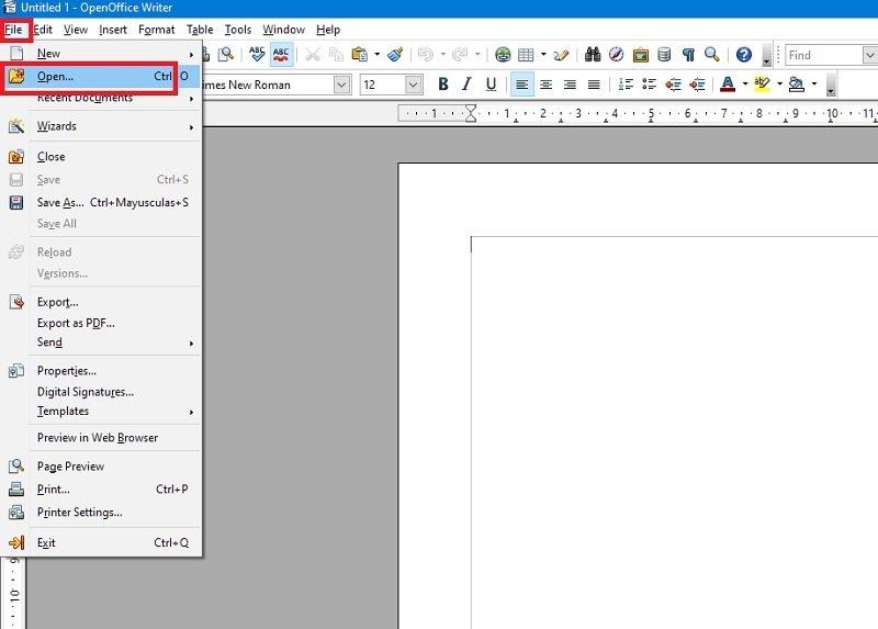 Open the file in OpenOffice
