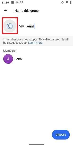 Open the group icon selector