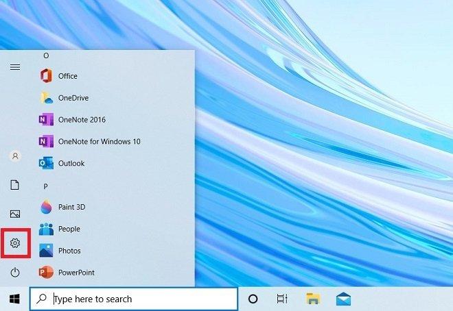 Abrir la configuración de Windows 10