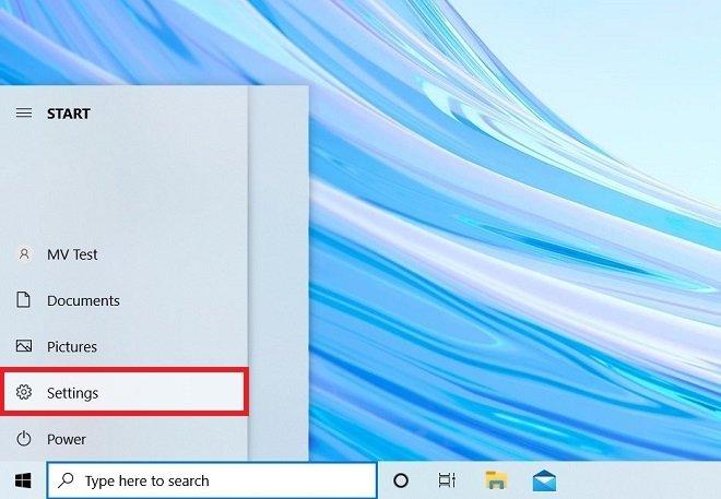 Open the Windows configuration