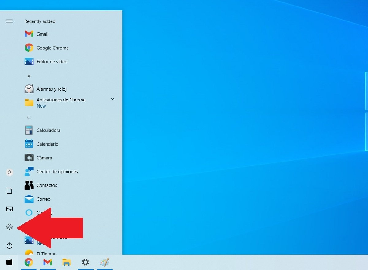 Abrir configuración de Windows