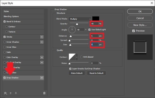 Parallel shadow options