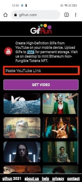 Pegar enlace del vídeo