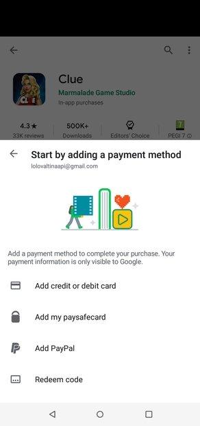 Modes de paiement disponibles