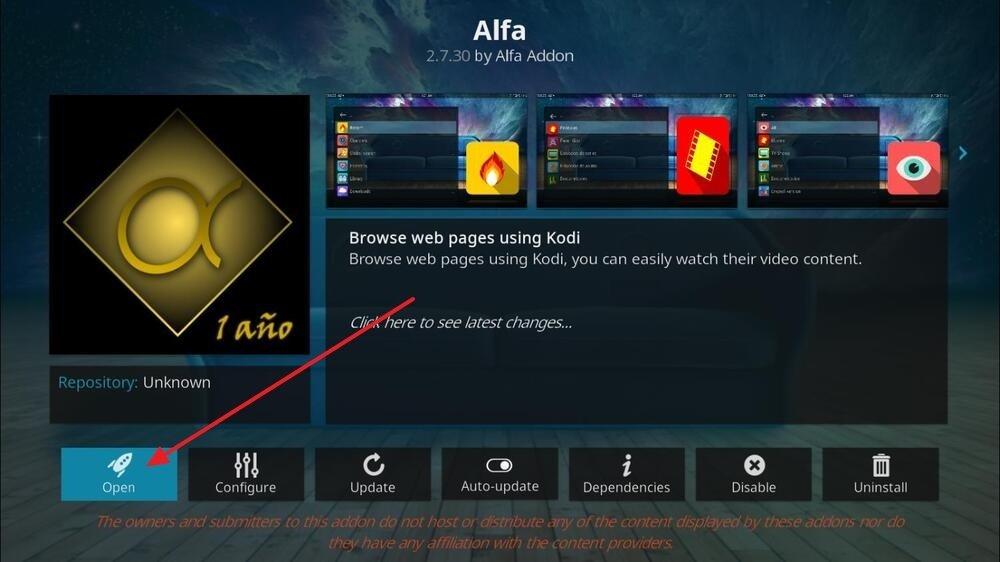 Página dedicada de Alfa