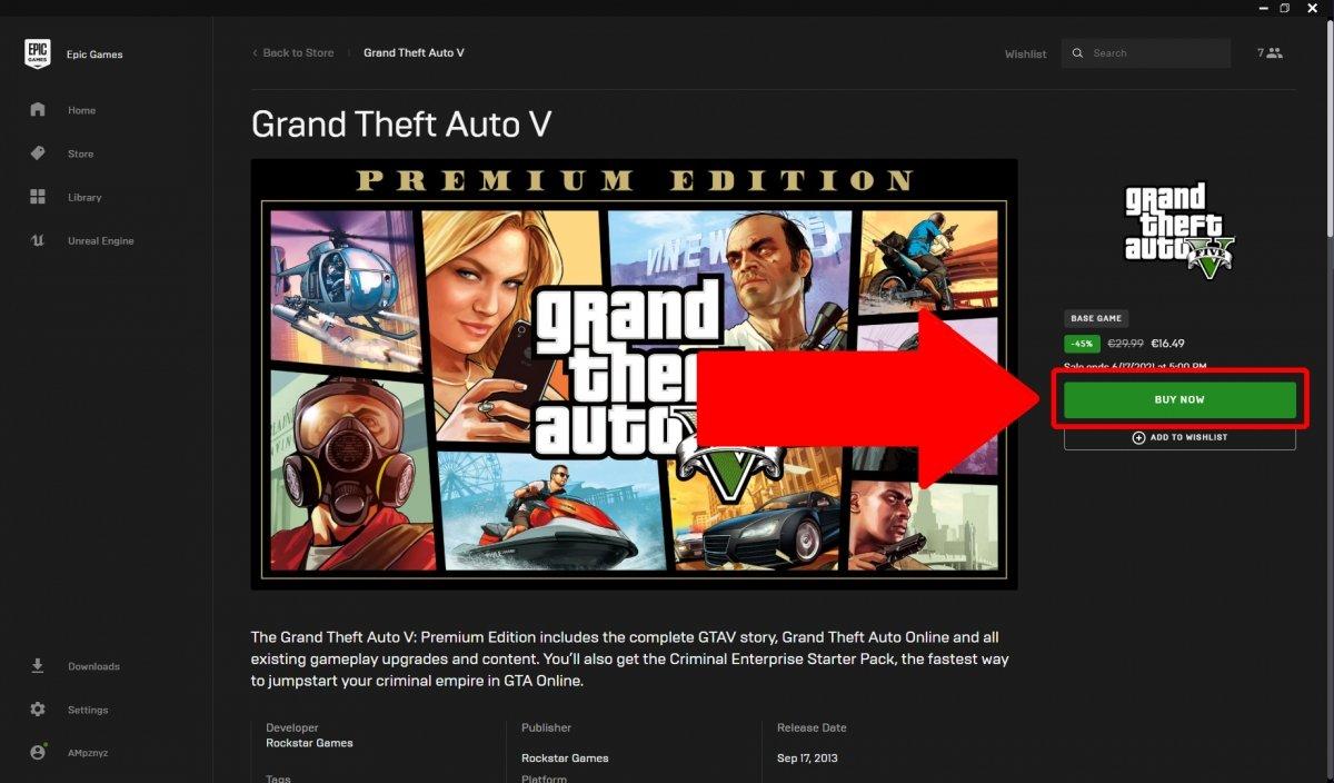 Nous cliquons sur Acheter maintenant pour procéder à l'achat du jeu