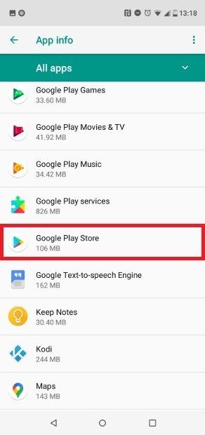 Clique no Google Play Store