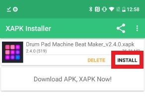Clique Install en XAPK Installer para instalar o arquivo XAPK