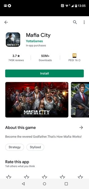 Cliquez sur Installer pour télécharger un jeu