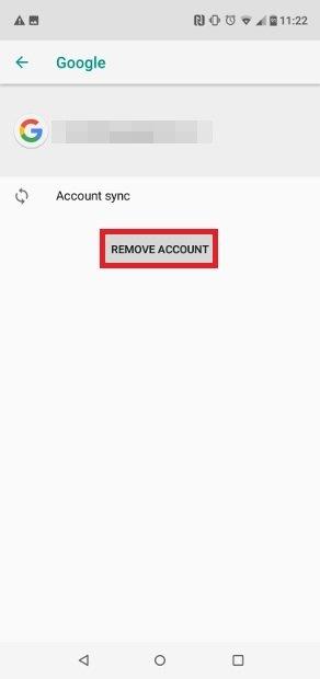 Pulsa sobre Remove Account