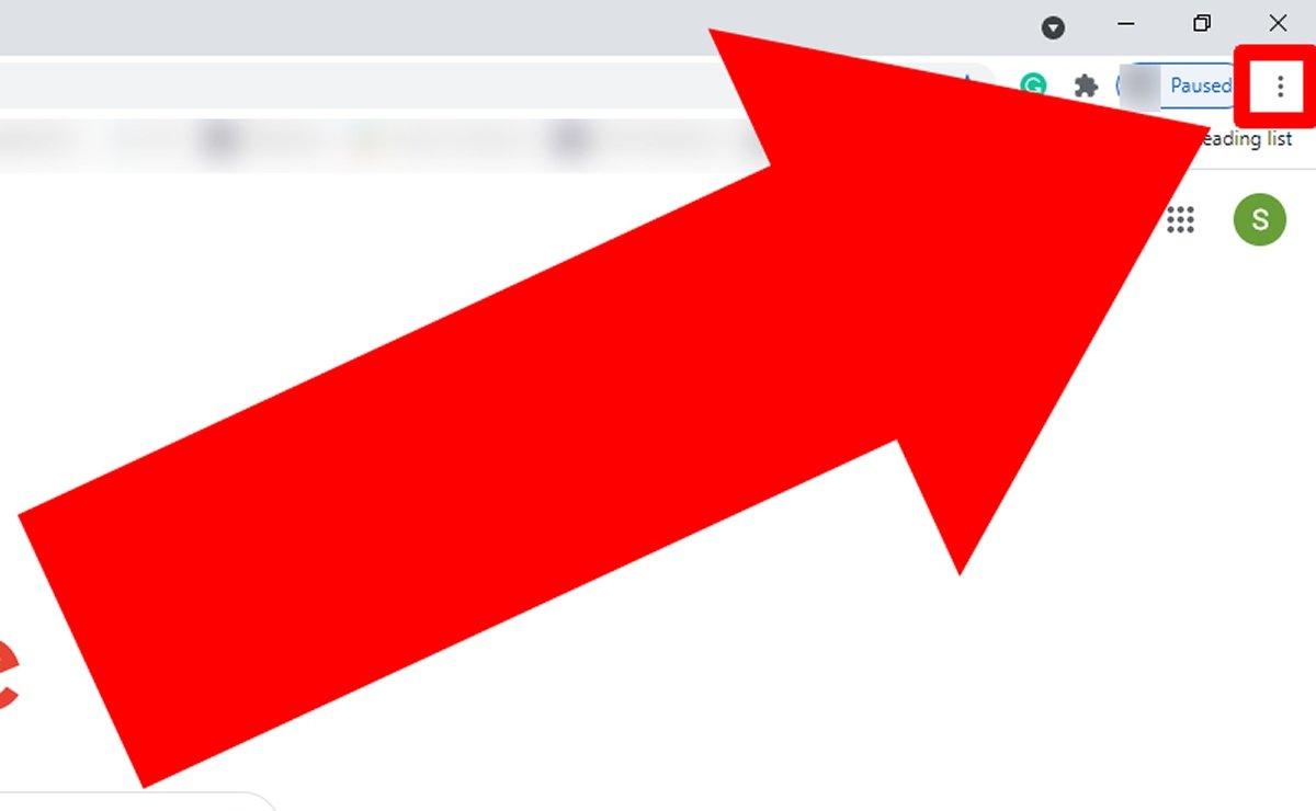 Нажмите на три точки, чтобы открыть меню параметров Google Chrome