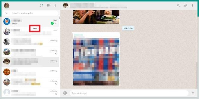 Previsualiza mensajes sin marcar el doble check azul