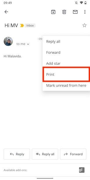 Imprimir correo electrónico
