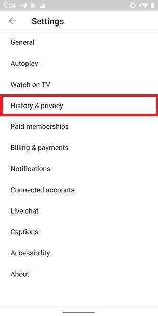 Sección de privacidad