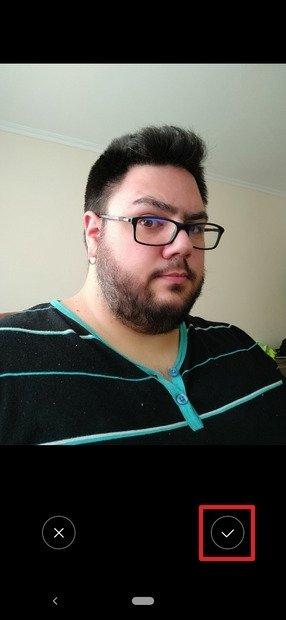 Foto de perfil tirada com a câmera