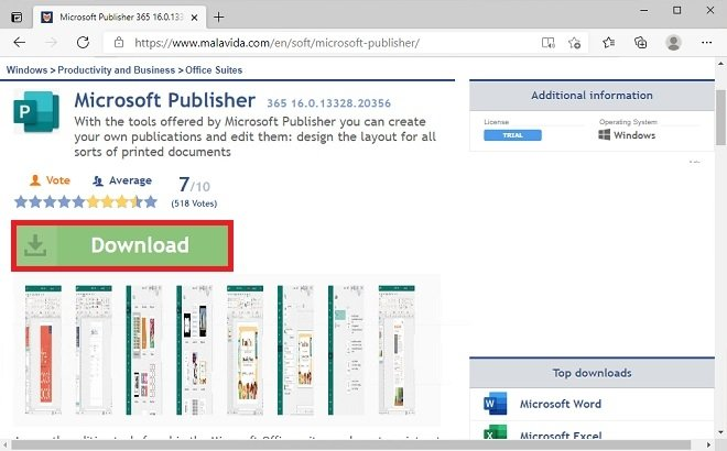 Publisher's download page