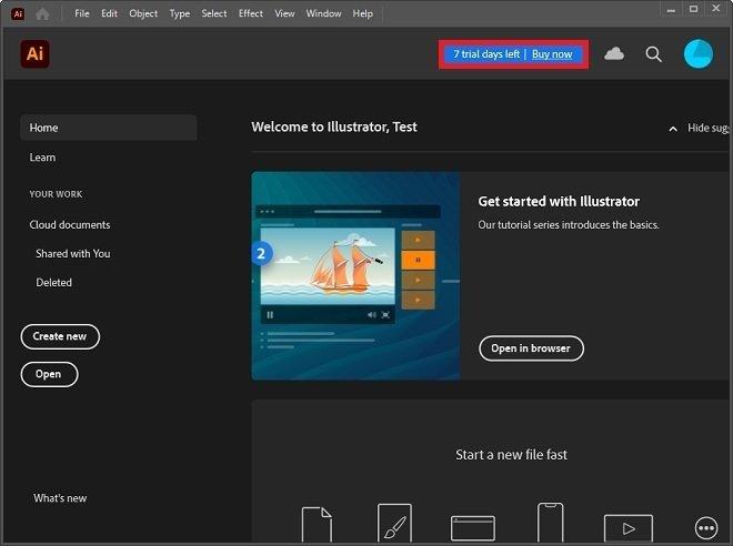 Purchase Adobe Illustrator