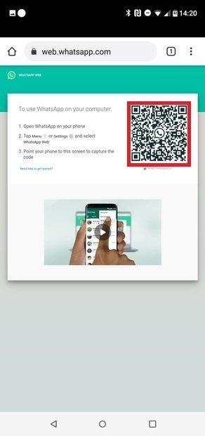 Codice QR da scansionare