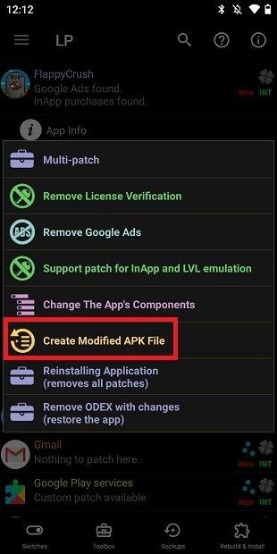 Crear APK modificado