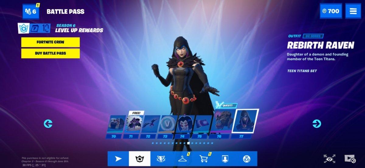 Rebirth Raven dans le Battle Pass