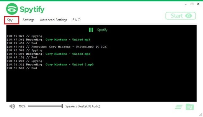 Record Spotify to convert to MP3