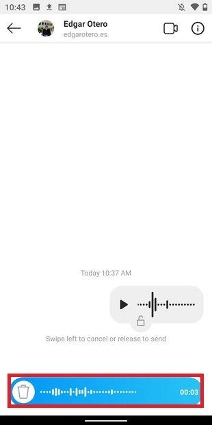 Grabando nota de voz