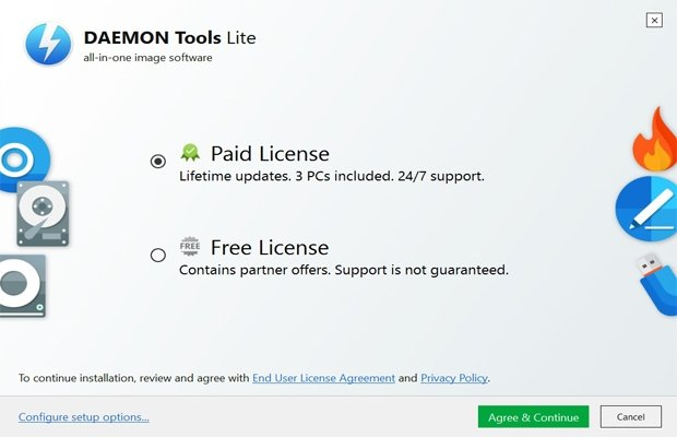 Reminder about choosing the license type