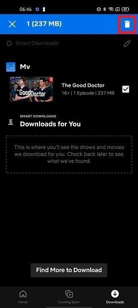 Remove a download