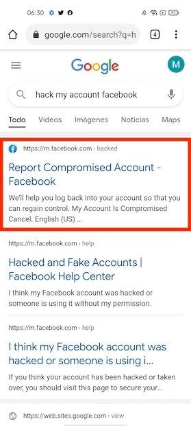 Signaler un piratage à Facebook